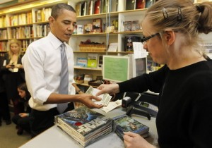 President Obama at Prarie Lights Books