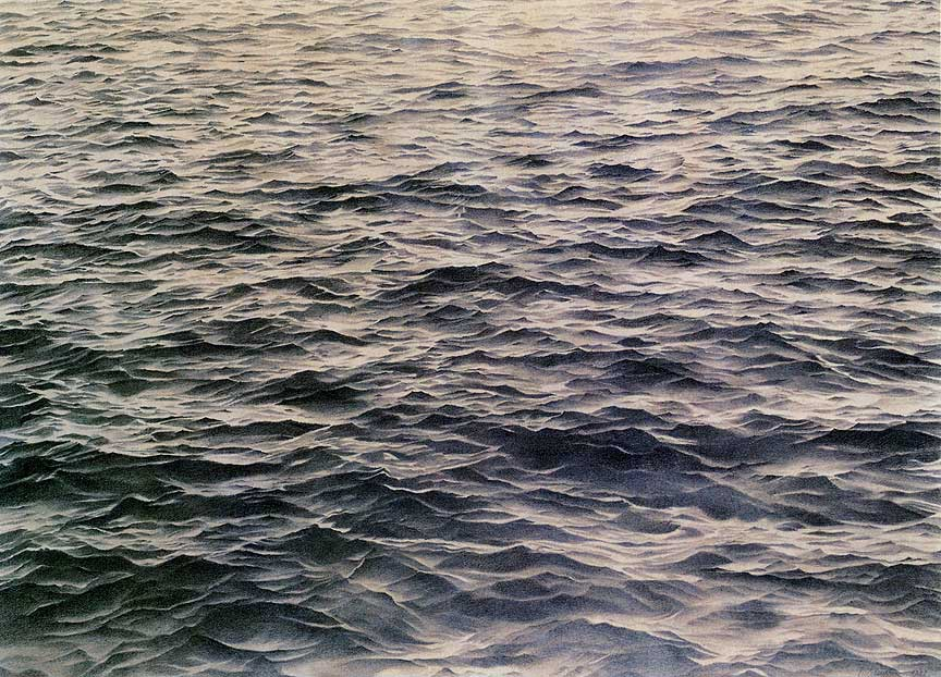 Vija Celmins Untitled (Big Sea #1) 1969 Graphite on acrylic ground on paper, 34 1/8 x 45 1/4 inches Private collection Courtesy McKee Gallery, New York www.mckeegallery.com